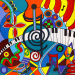 Musical Notes - 30 x 30
